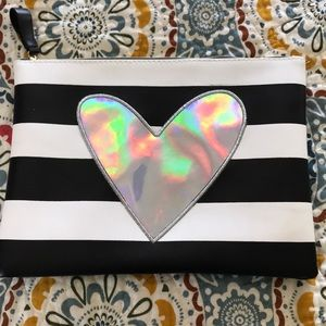 Handbags - Black and white makeup bag